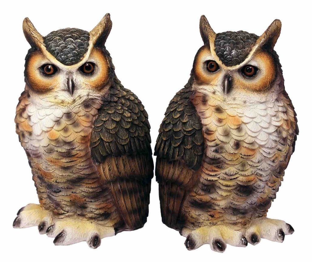 Great Horned Owl Bookend Set Streamline
