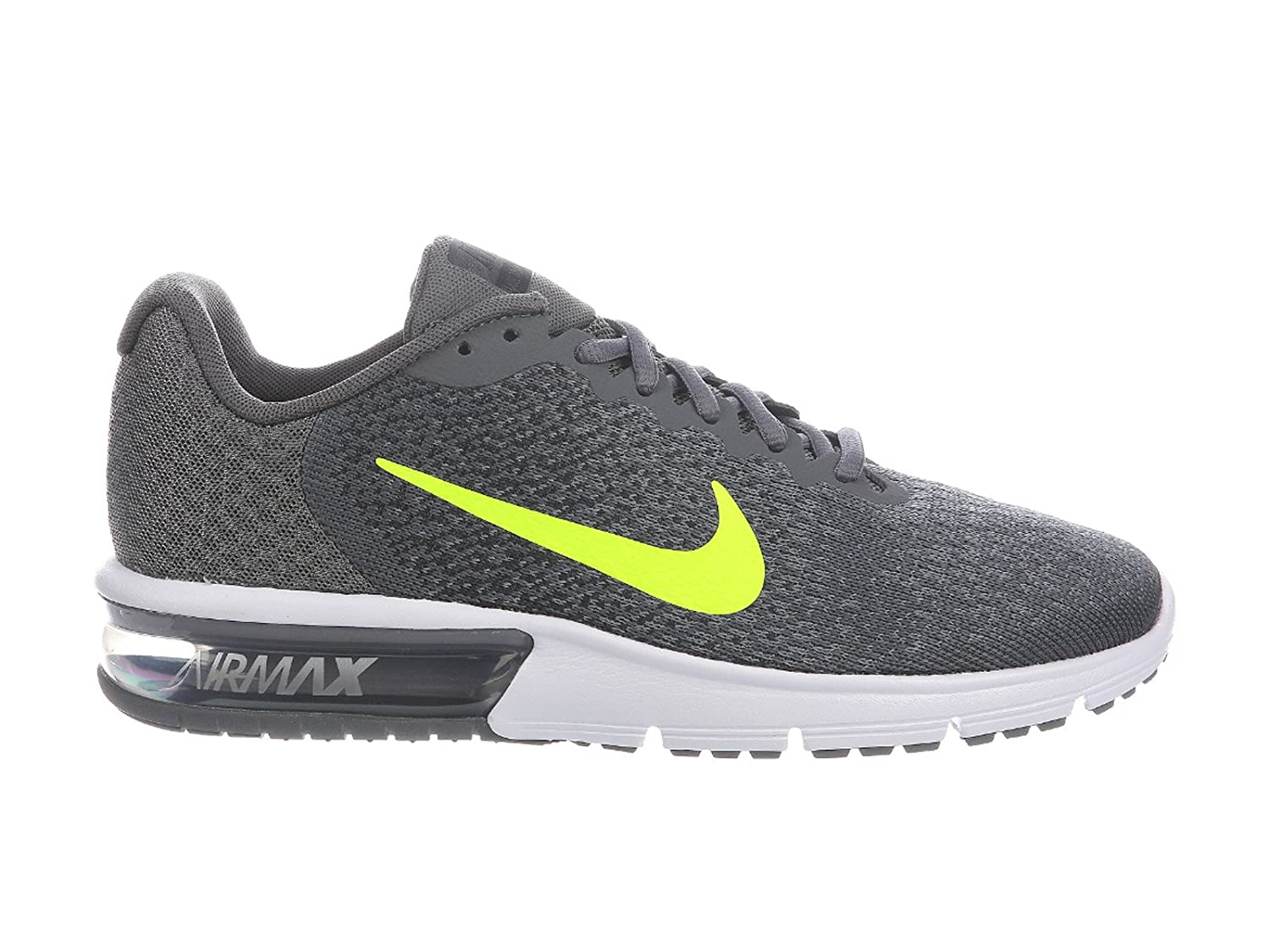NIKE Men's Air Max Sequent 2 Running Shoe B00JCF9EO2 14 D(M) US|Dark Grey/Volt/Anthracite/Cool Grey/White