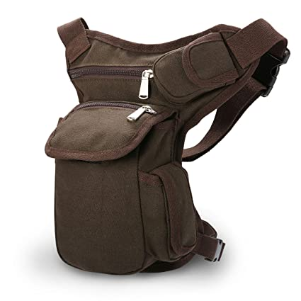 5bc9d25344 Amazon.com   CAMTOA New Men Canvas Sports Racing Drop Leg Bag