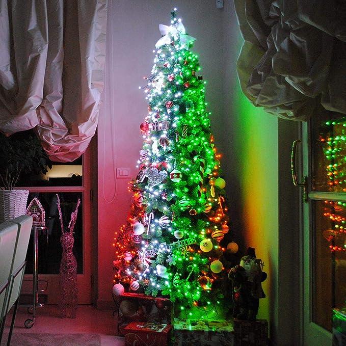 2 M 5 M DEL Arbre de Noël décoration lumière chaîne Bluetooth Téléphone Portable App