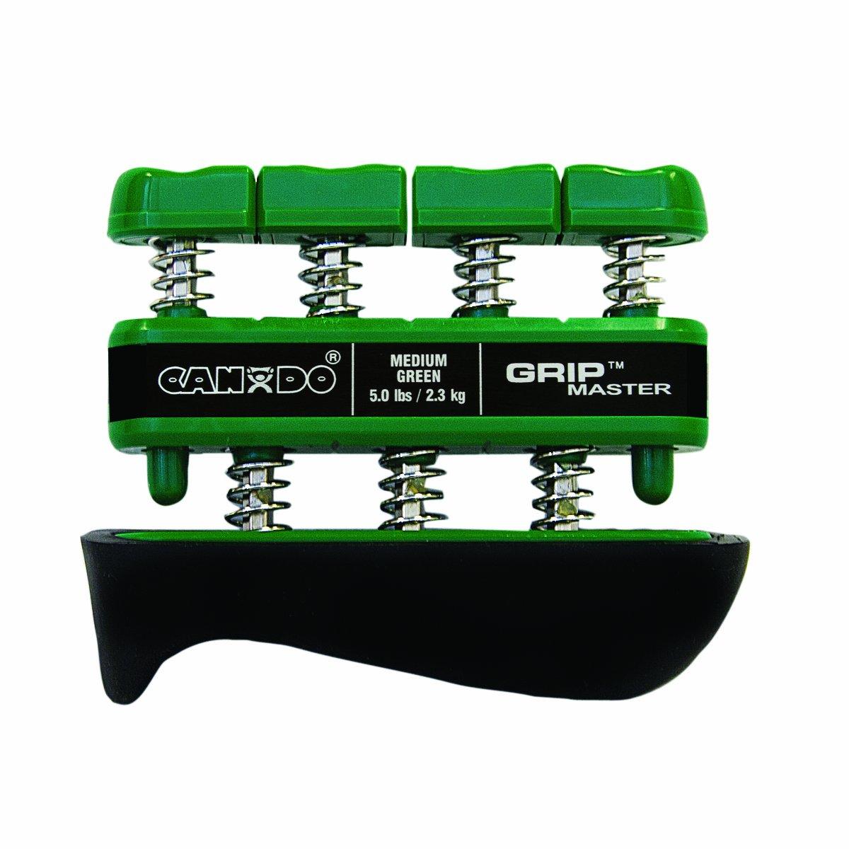CanDo GripMaster Hand Exerciser, Green, Medium Tension