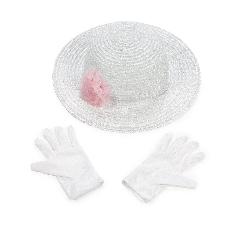 Amazon.com  Fun Express Polyester Tea Party Hat Gloves Set  Toys   Games 2b7ff9b5711d