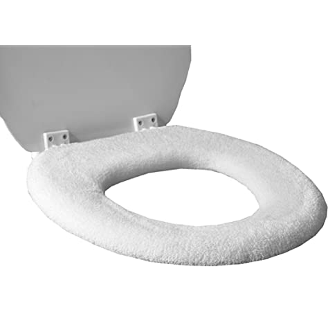 Light Gray Fleece Fabric COVER Toilet Seat Lid and Tank Top