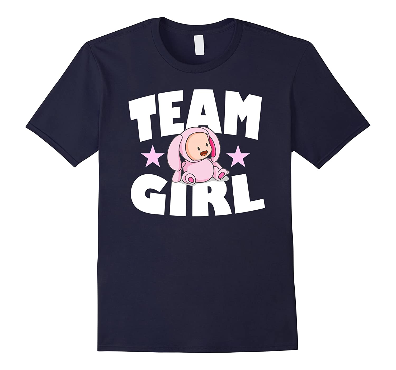 Baby Shower Team Girl Gender Reveal T-Shirt-FL