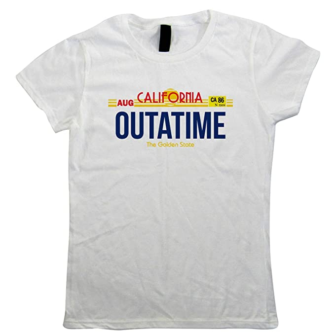 Outatime California Licence Plate T-shirt for Adults