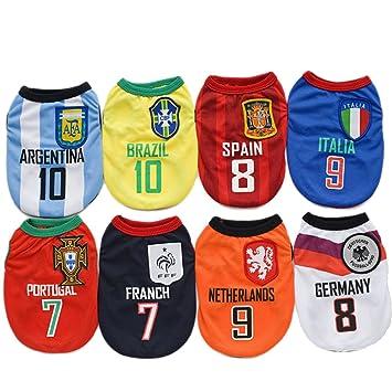 Camiseta de fútbol de la Copa del Mundo FIFA de Amakunft para perros y gatos
