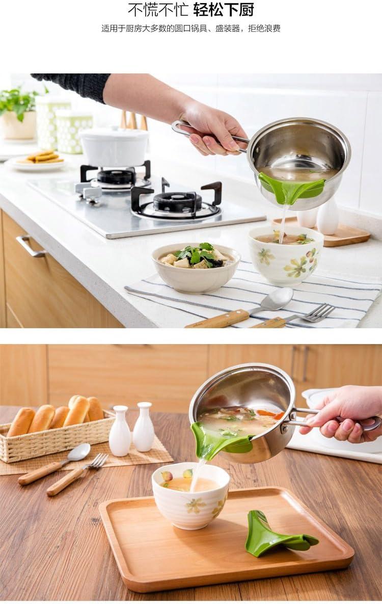 Cocodrilo Cocina Pot con guía de borde redondo boca, boquilla ...