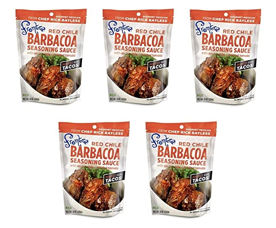 Amazon.com : Frontera - Red Chile Barbacoa Slow Cook Sauce with Roasted Tomato + Chipotle - 8 oz. (Pack of 3) : Grocery & Gourmet Food