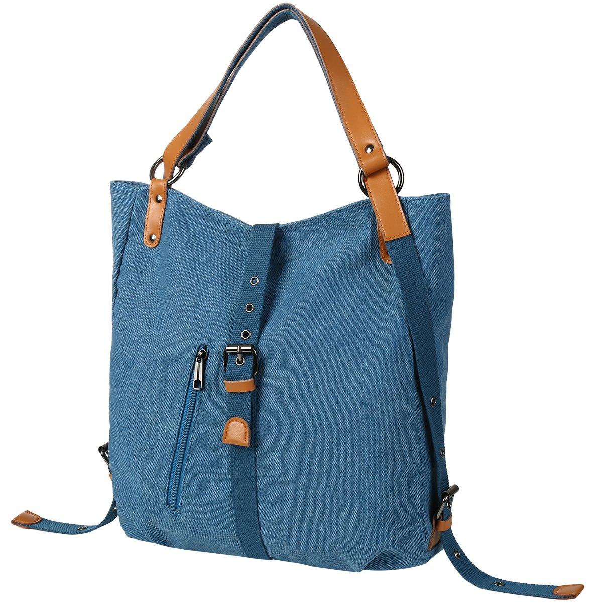 Vbiger Women Girl Backpack Purse Convertible Canvas Rucksack Shoulder Bag