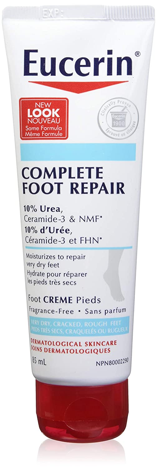 EUCERIN Complete Foot Repair Cream for Dry to Extremely Dry, Rough and Tight Skin, 85 mL tube Beiersdorf Inc. 04005805220338