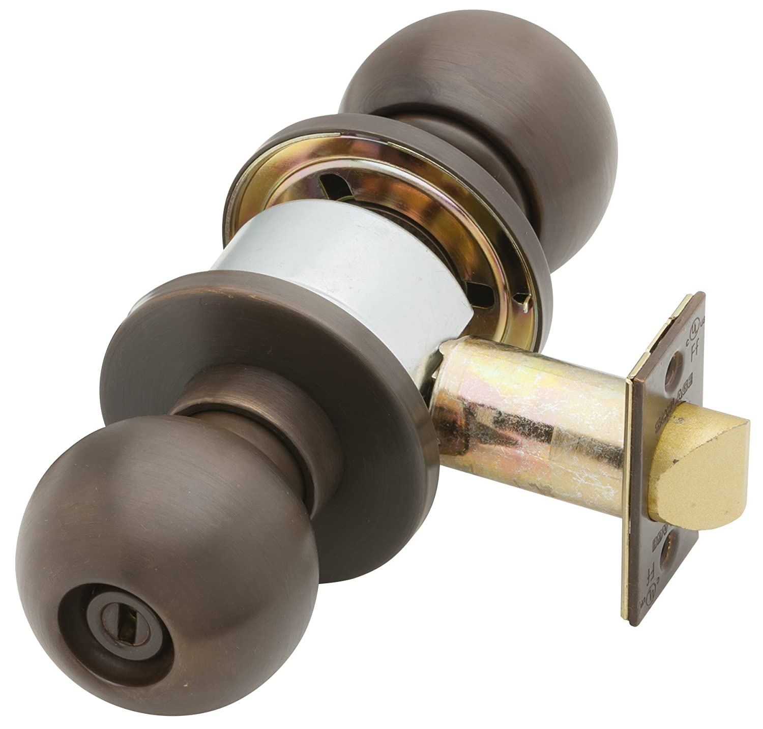 Privacy Function Orbit Design Keyless Schlage D40S ORB 613 Series D Grade 1 Cylindrical Lock Oil Rubbed Bronze Finish
