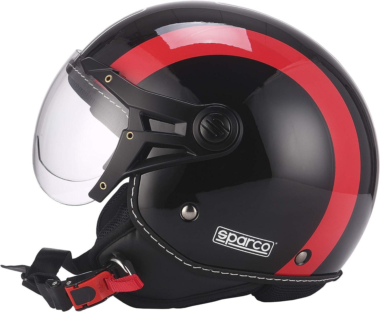 GR/ÖSSE M SPARCO Herren SCHWARZ//ROT Helm 501
