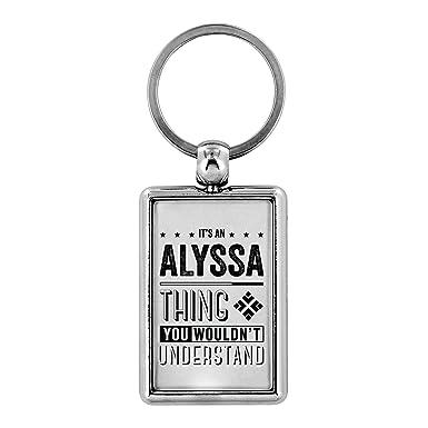 Amazon.com: Llaveros personalizados – Es una Alyssa Thing ...