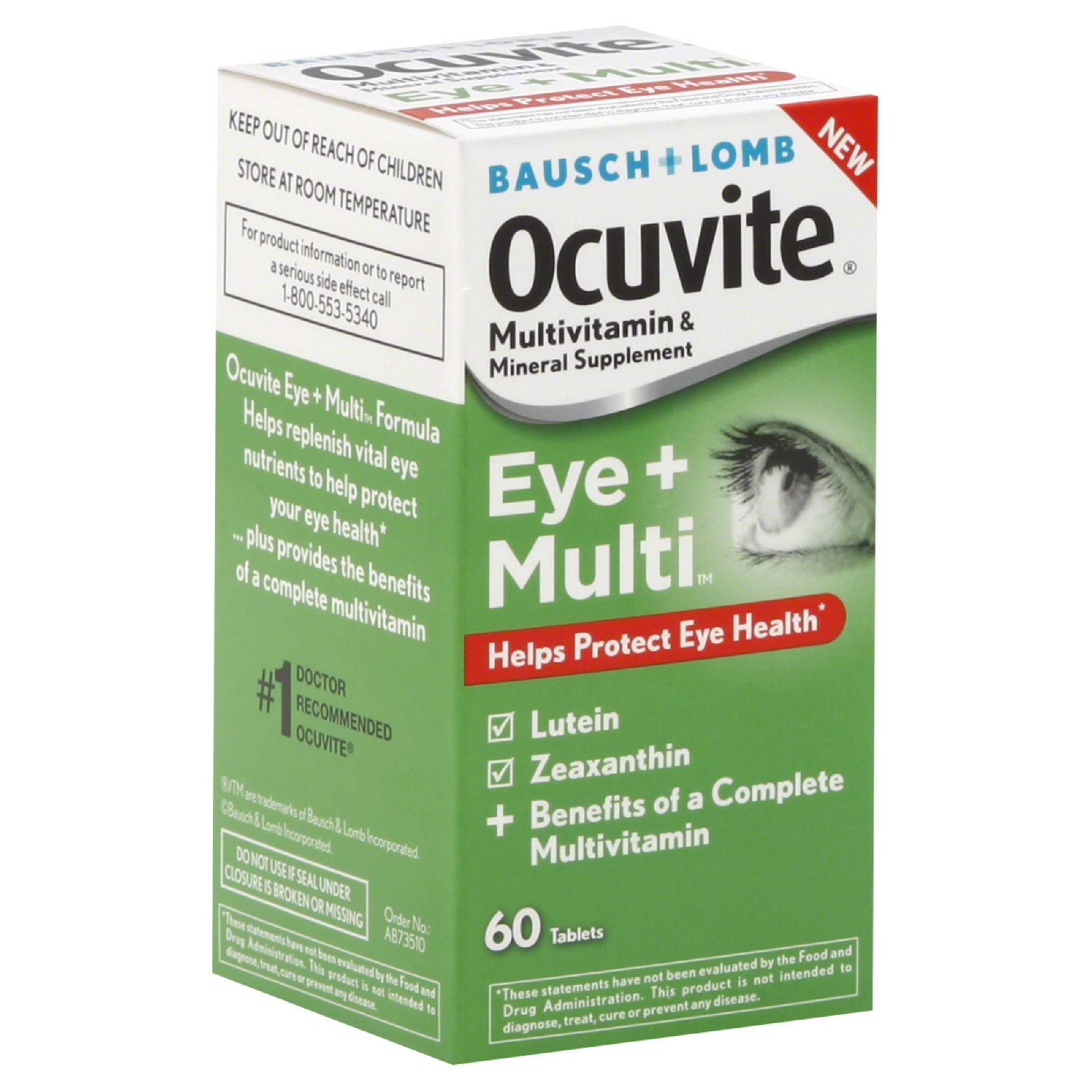 B&L Ocuvite Eye + Multi Size 60ct B&L Ocuvite Eye + Multi 60ct by Bausch & Lomb