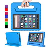 "MENZO Case for Amazon All-New Fire HD 8 2018/2017 - Shockproof Convertible Handle Light Weight Protective Stand Cover Kids Case for Fire HD 8"" (2017 and 2018 Releases) Tablet, Blue"