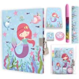 Kids Stationary Set with Notebooks for Girls, Journal with Lock Mermaid Toys for Girls Age 5 and Perfect Little Girl…