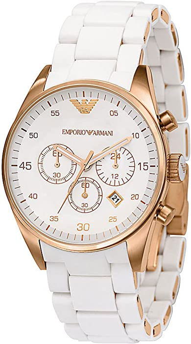 6ed80677da93a Amazon.com  Emporio Armani Women s AR5920 Sportivo White Dial Watch ...