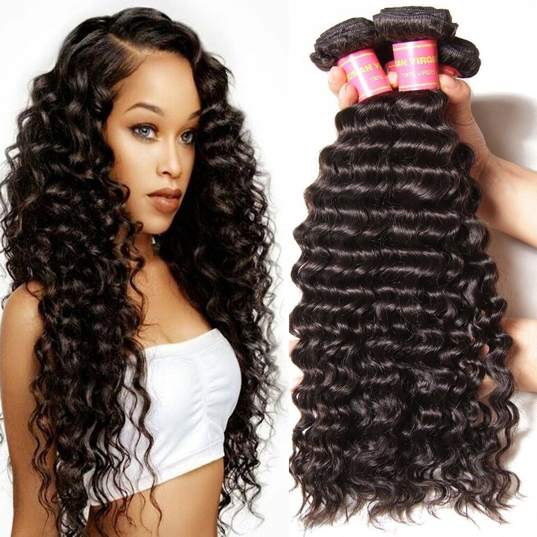 Amazon Jolia Hair 7a Grade Virgin Brazilian Deep Wave Hair