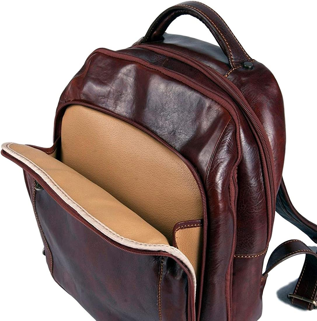 Michelangelo Genuine Leather Italy Backpack Adventure Leather 30X18 H40 cm