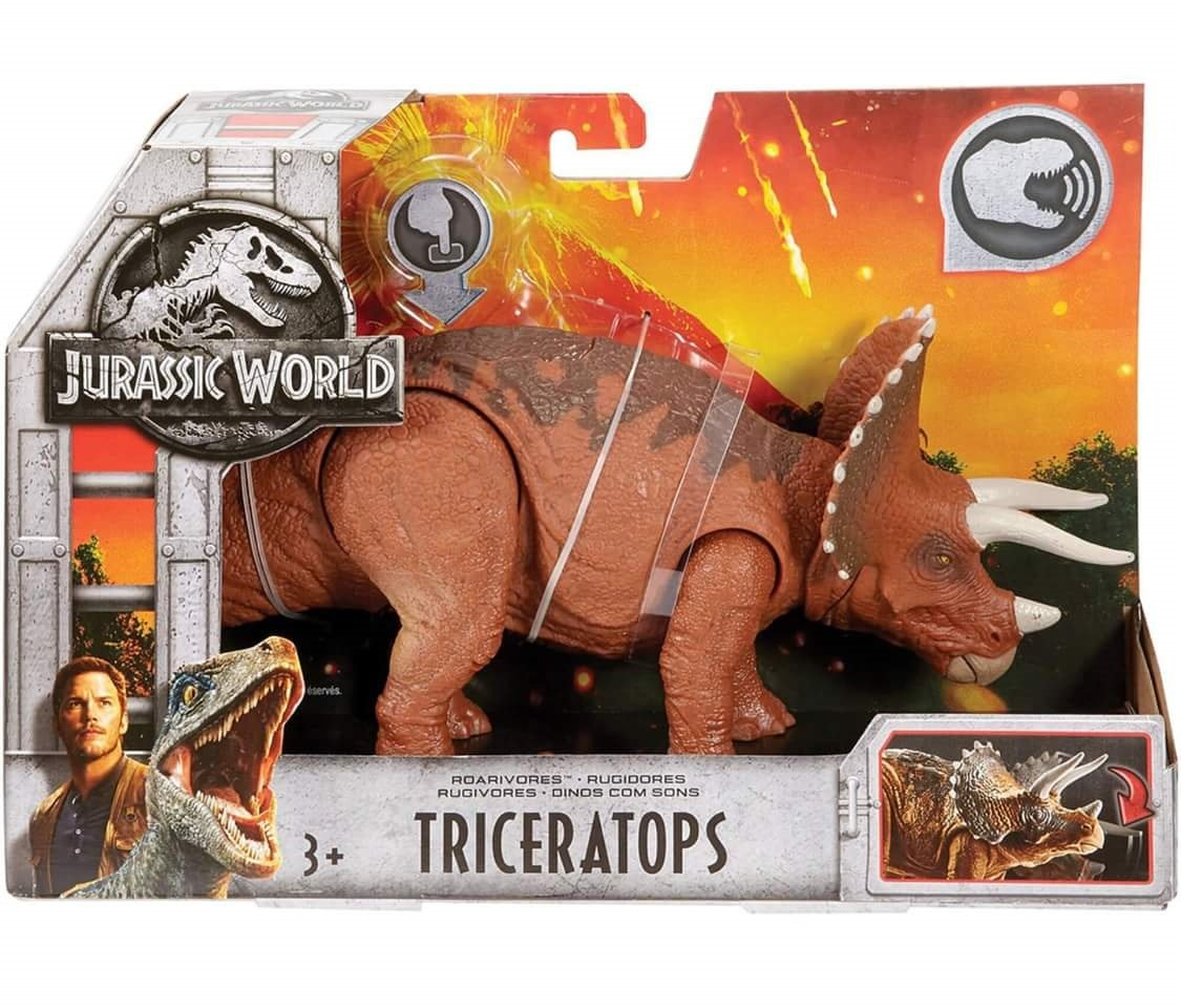 Jurassic World Mattel Roarivores Triceratops Action Figure