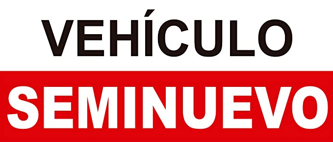 Cartel Coche Seminuevo 60x25cm | Rótulo Fabricado en ...
