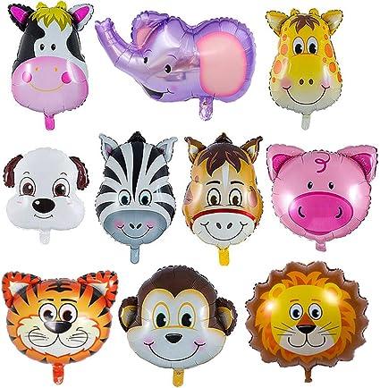 Amazon.com: LAKIND - Globos de animales de zoo, 10 unidades ...