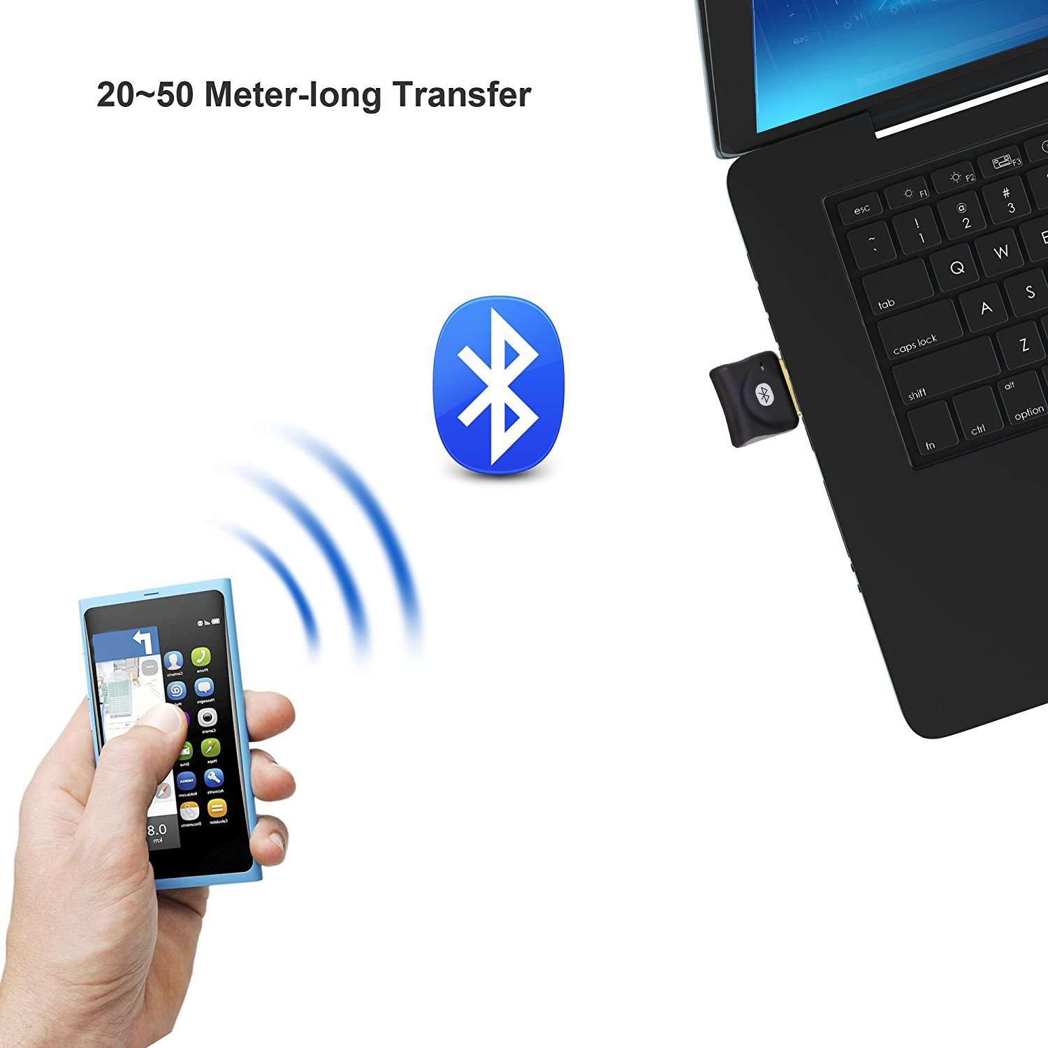 Bluetooth Adapter for PC USB Dongle ZTESY CSR 4.0 Bluetooth Receiver Wireless Transfer for Stereo Headphones Laptop Windows XP/7/8/10/Vista Compatible by ZTESY (Image #4)