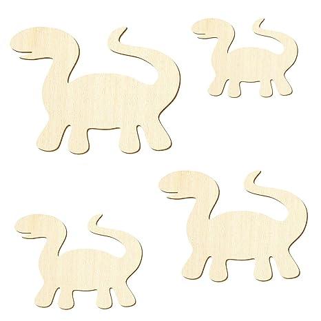 Basteln Deko 3-50cm Breite Holz Dinosaurier