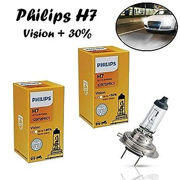 2x Philips H7 Vision 30/% 55W 12V 12972PRC1 Scheinwerfer Ersatz Lampe E-geprüft