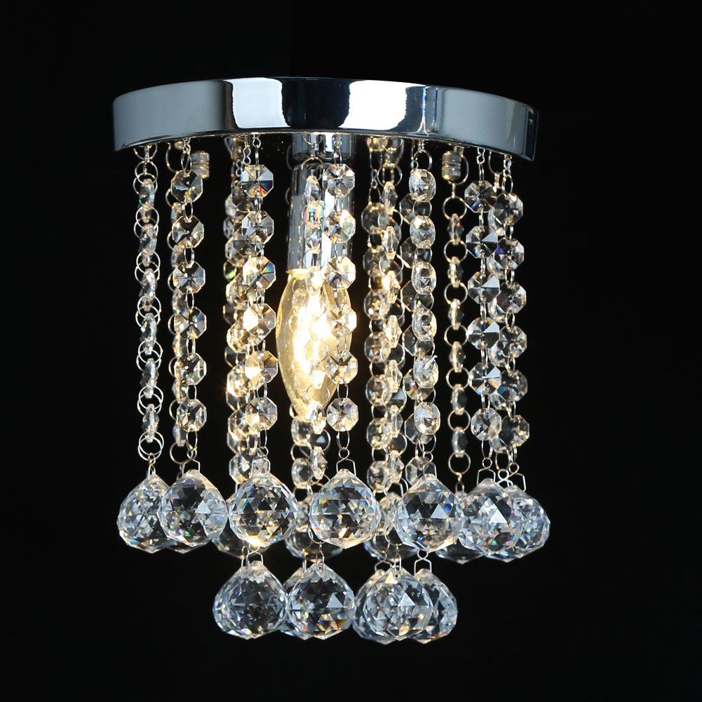 Fuloon Modern Flush Mounted Ceiling Lamp Crystal