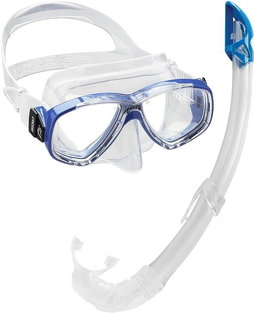 310 opinioni per Cressi Perla Mare- Combo Set Maschera Sub Perla e Snorkel Mexico, Blu