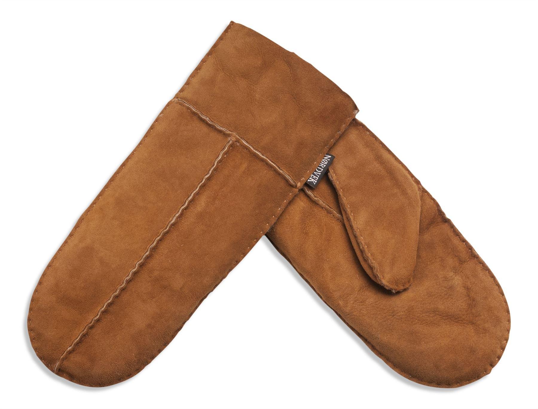 Nordvek Women's Sheepskin Mittens # 315-100 (One Size, Light Brown) by Nordvek