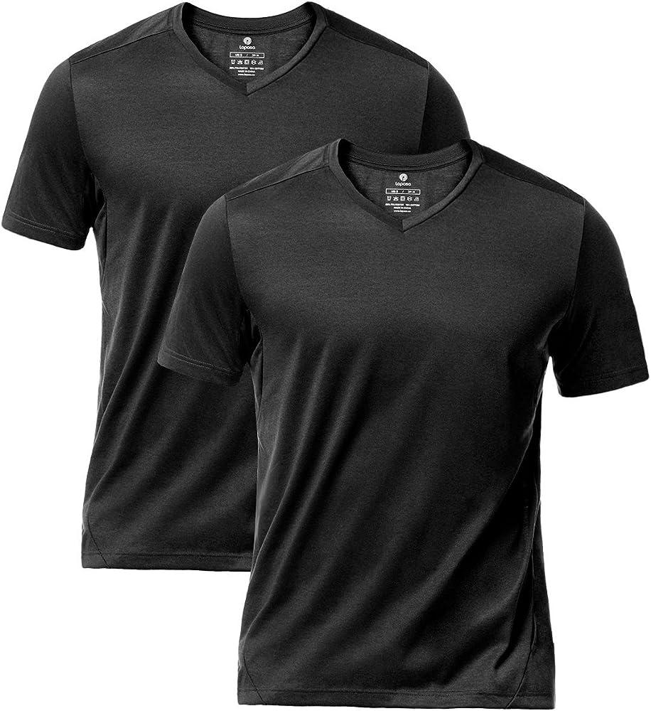 LAPASA Pack de 2 Camisetas Deportivas de Manga Corta para Hombre M41 (XXL (Largo 75, Pecho 119-124 cm), Negro): Amazon.es: Ropa y accesorios