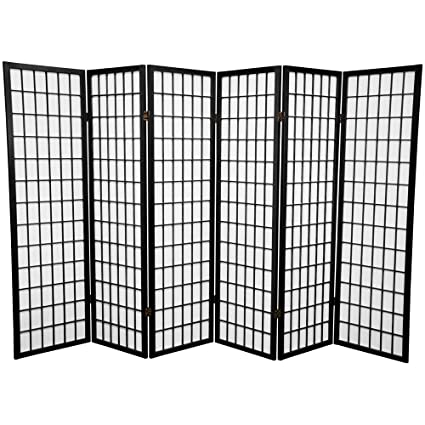 Amazing Square Furniture Panel Shoji Screen Room Divider 6 Panel Black Home Interior And Landscaping Ologienasavecom