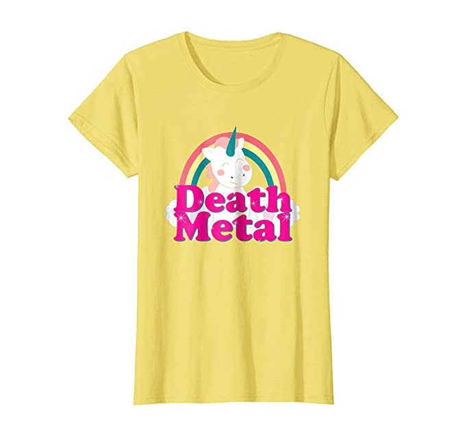 Amazon.com: Death Metal Funny Rock N Roll Music Unicorn Rainbow T Shirt: Clothing