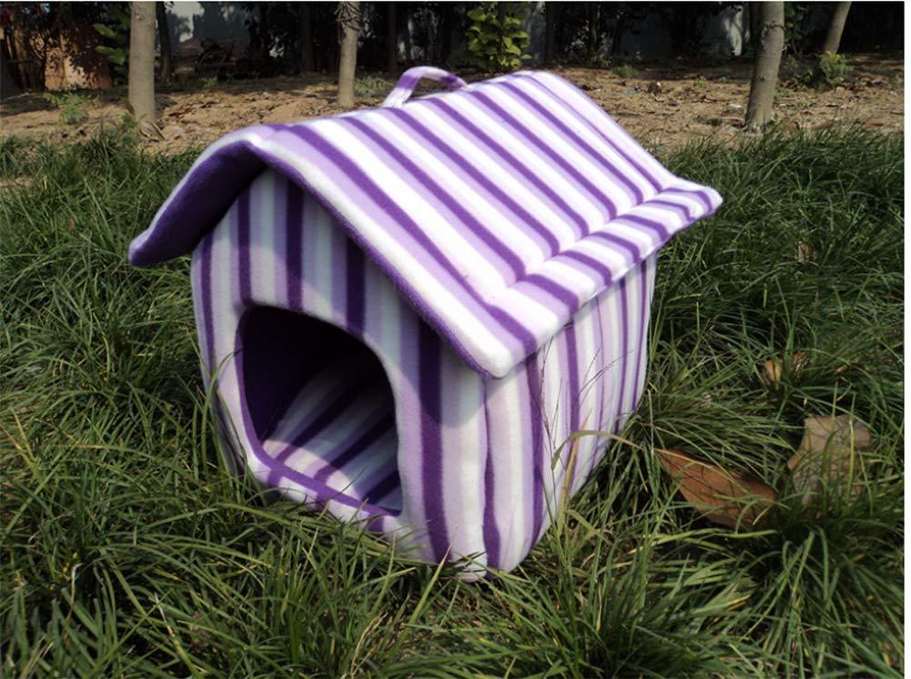 Purple 454045GYYL Kennel cat litter pet house dog tent winter kennel