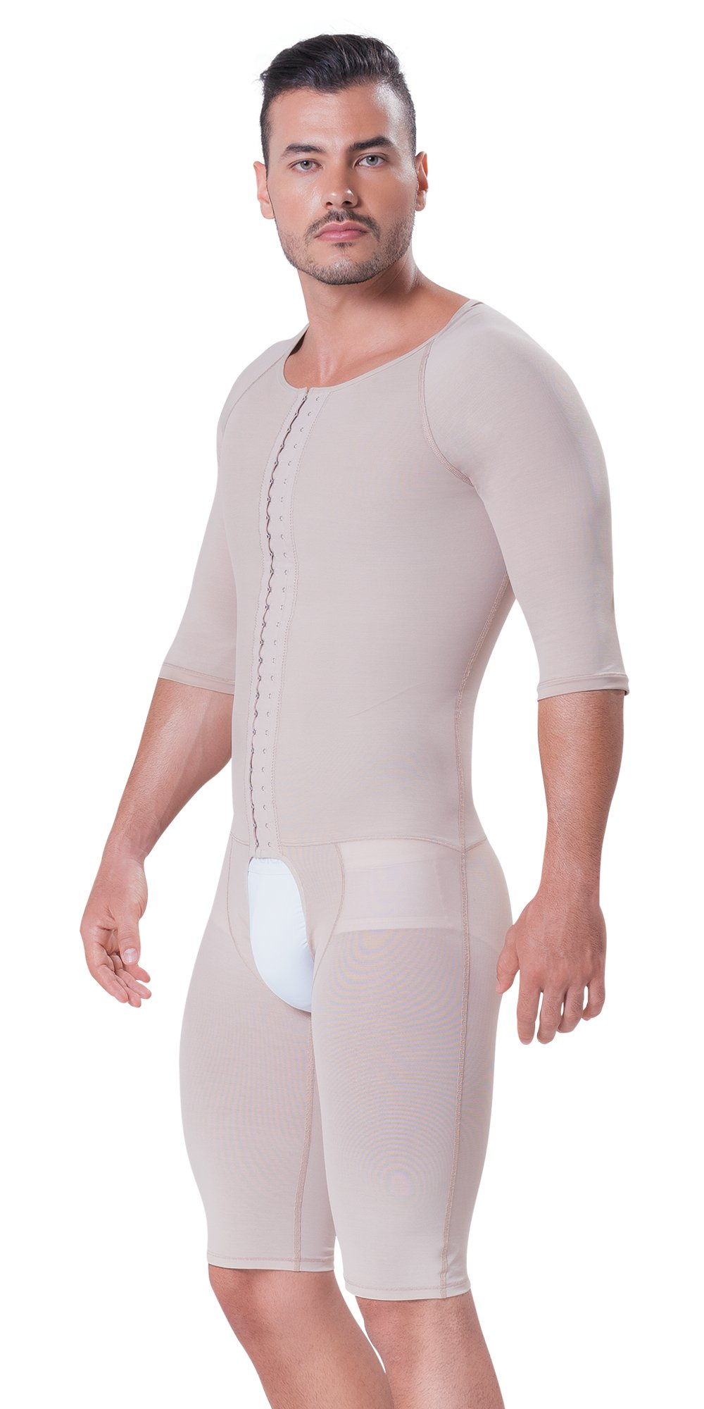 Fajitex Men's Fajas Colombianas Para Hombre Abdomen, Chest, Back, arms and Legs Shaping Girdle Full Body 026960 (XXX-Large, Beige)