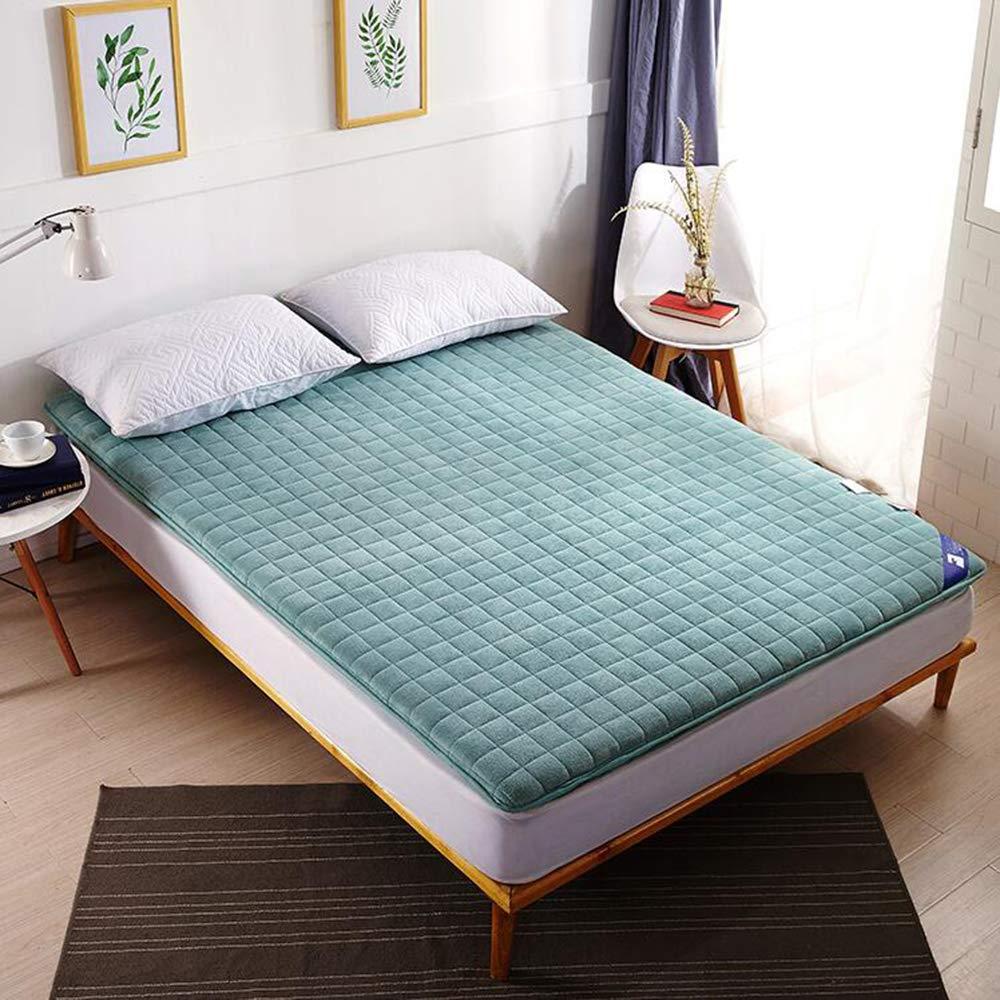 Love Home Tatami Matratzenauflage, japanische Vierjahreszeiten, atmungsaktiv, hohe Rückprallung, Studenten-Schlafmatratze, Schlafmatte, Polyester, grün, 135x200cm(53x79inch)