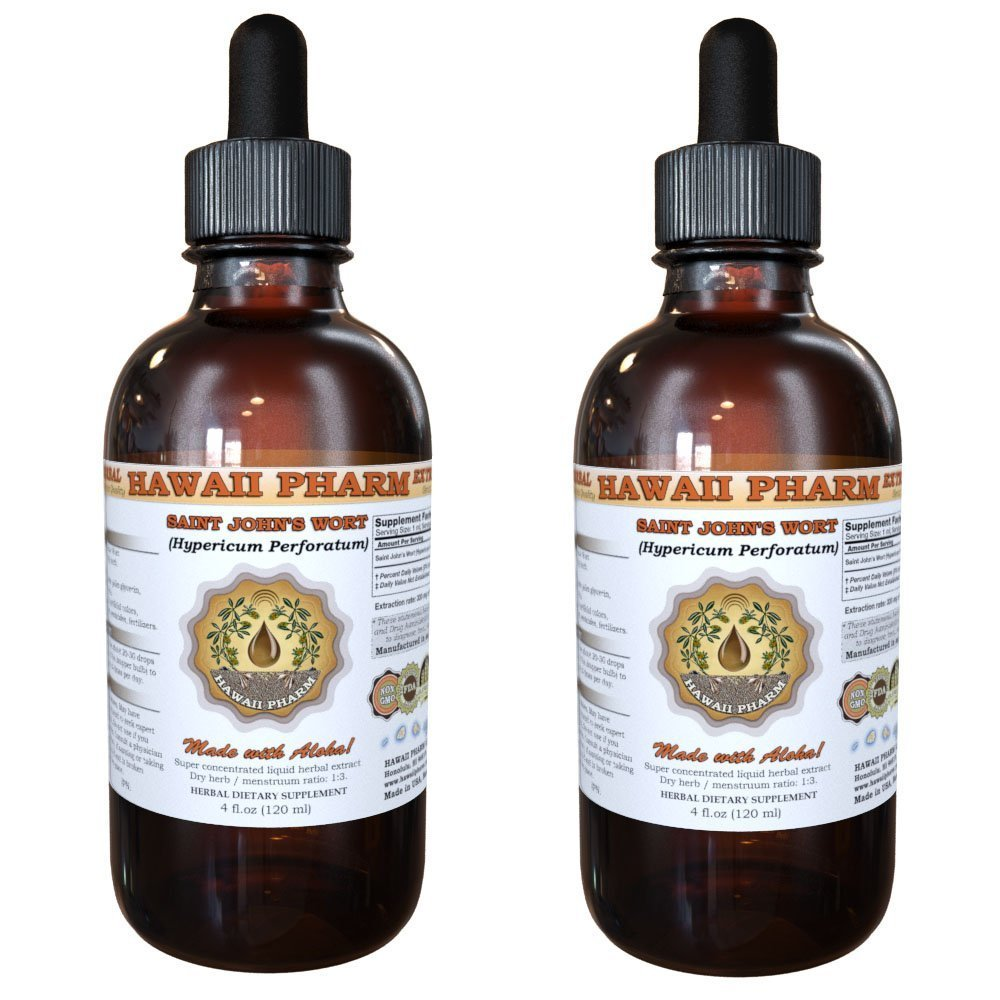 Saint John's Wort Liquid Extract, Organic Saint John's Wort (Hypericum Perforatum) Tincture 2x4 oz