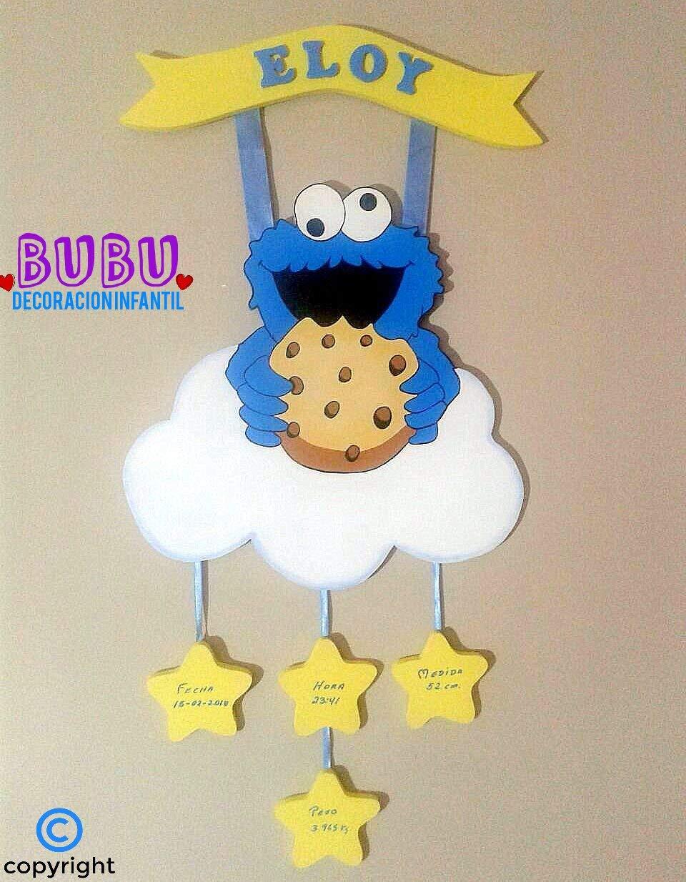 Natalicio infantil Monstruo Comegalletas: Amazon.es: Handmade