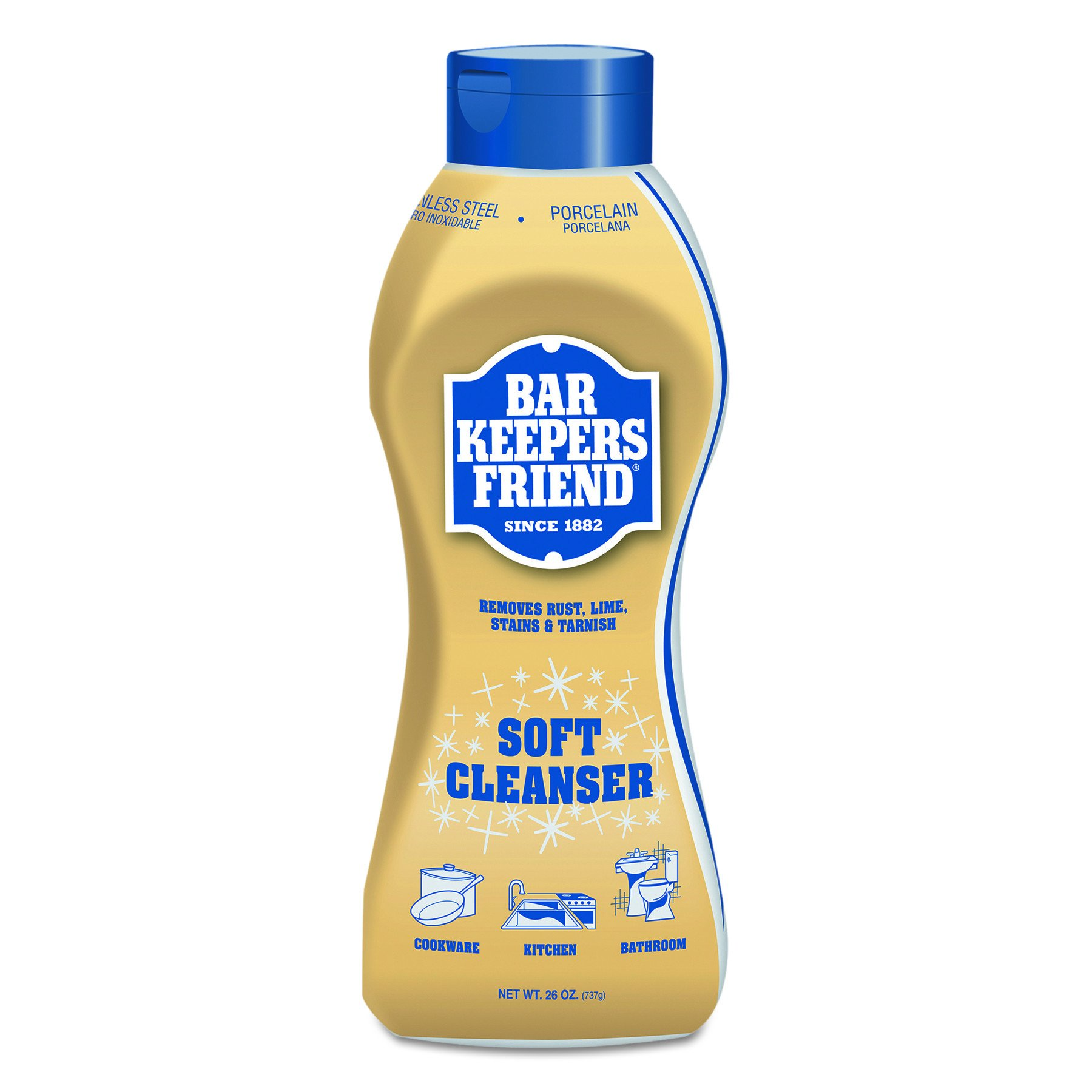 Bar Keepers Friend 11624 Soft Cleanser, 26 oz Squeeze Bottle, Citrus (Case of 6)