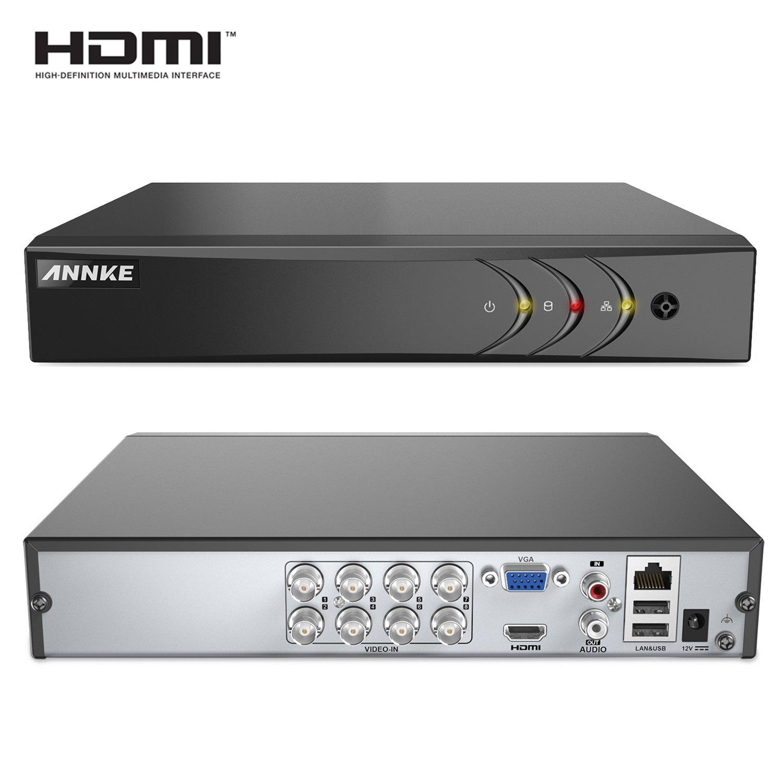 ANNKE 1080P Lite 8 Canales DVR TVI 5-en-1 Grabador de Video H.264 P2P Seguridad CCTV Sistema de Vigilancia Detecci/ón de Movimiento-2TB Disco duro de vigilancia
