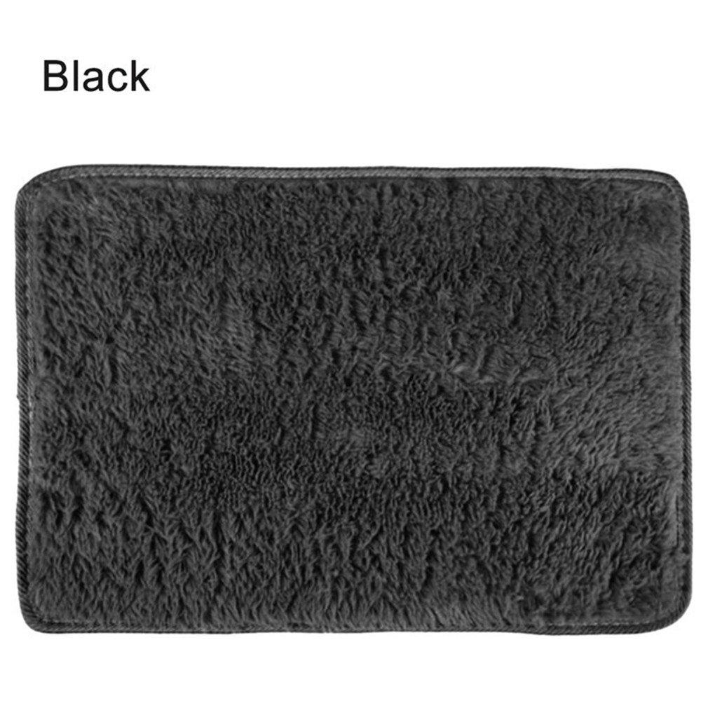 Super Soft Long Plush Silky Mat Carpet Mat Door Rugs Area Rug For Bedroom Living Room Bathroom 4 40x60cm by CHOUHOC (Image #6)