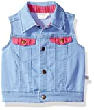 Rosie Pope Baby Girls' Denim Pom Vest, 3-6 Months