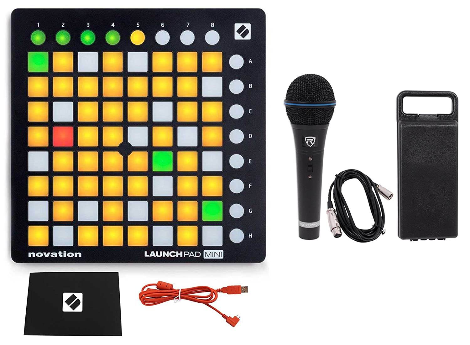 Novation LAUNCHPAD MINI MK2 MKII USB MIDI DJ Controller 64-Pad+Mic+Cable+Case LAUNCHPAD MINI MK2+RMC-XLR