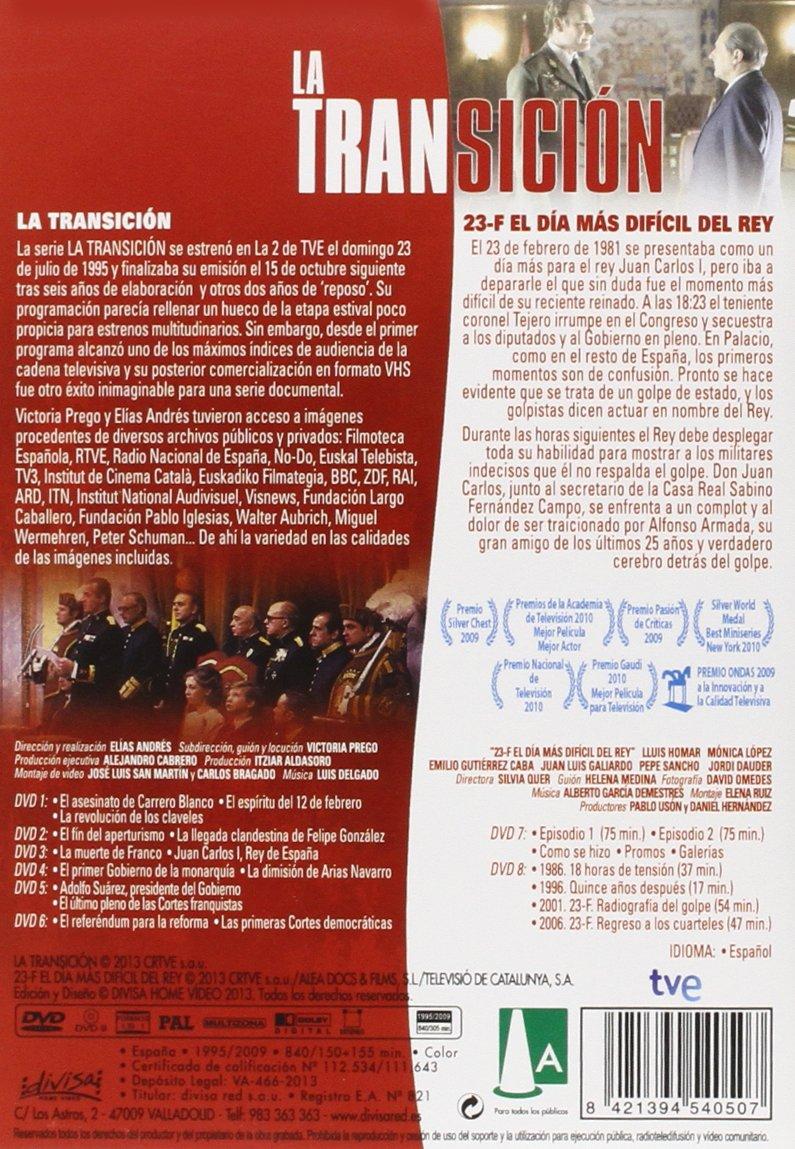 La transición + 23-F, el día más difícil del rey DVD: Amazon ...