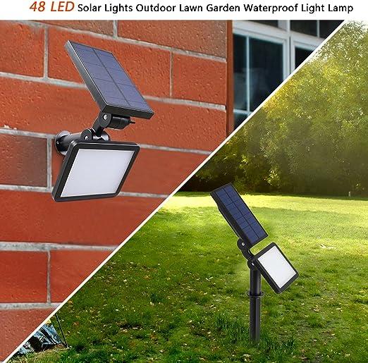Jadpes Lámpara Solar para Exteriores, 48 LED Luces solares ...