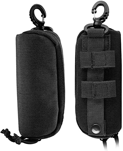 port/átil Fsskgx Tactical Molle Color Negro Funda para Gafas de Sol a Prueba de Golpes Funda Protectora para Gafas
