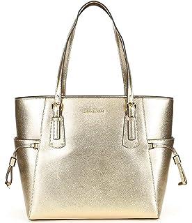 adc000427dad Amazon.com  MICHAEL Michael Kors Voyager Medium Leather Tote (Acorn ...