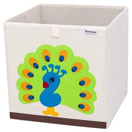 Hurricane Munchkin Collapsible Toy Storage Box   Cube Bin Organizer For  Children Toys, Stuffed Animals